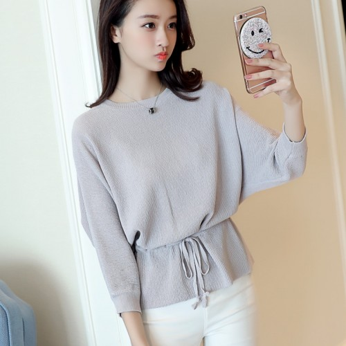 HAO HE SHEN new Spring and autumn leisure generous waist ladies sweater