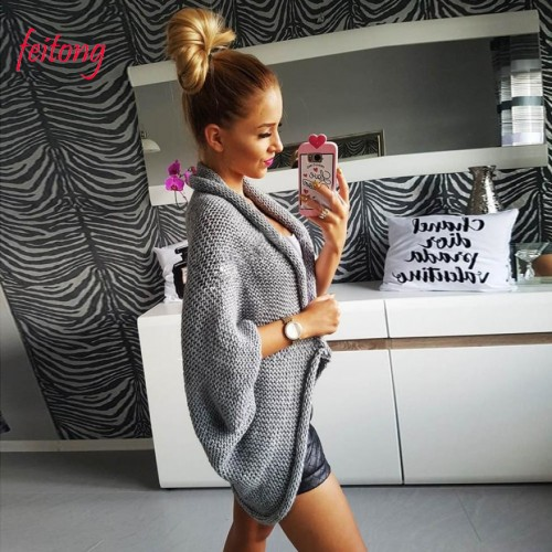 New Autumn Winter Women Loose Sweaters And Pullovers Jumper Knitwear Ladies Knitting Cardigan Jacket Outwear Coat