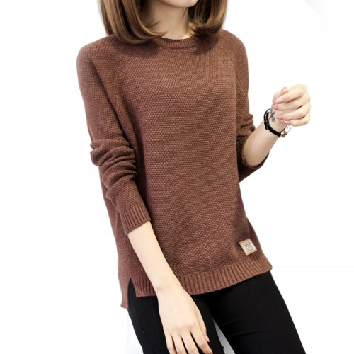 Women Costume Sweater High Quality Korean Style Autumn Winter Knitted Long Sleeve Outwear Women O neck