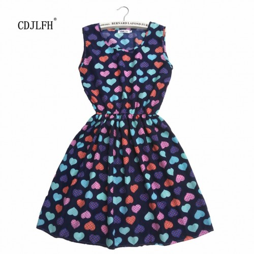 Sleeveless Printed Floral Slim Tank Mini Dress (27)