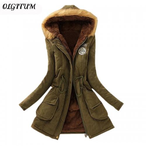 New Parkas Female Women Winter Coat Thickening Cotton Winter Jacket Womens Outwear Parkas for Women