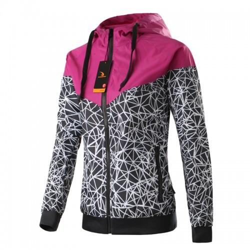 Spring Autumn new Women s jacket hooded jacket Women Fashion Casual Thin Windbreaker Zipper Coats Free