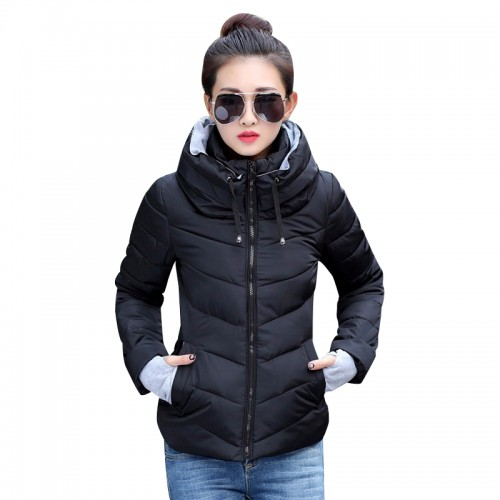 Winter Jacket women Plus Size Womens Parkas Thicken Outerwear solid hooded Coats Short Female Slim