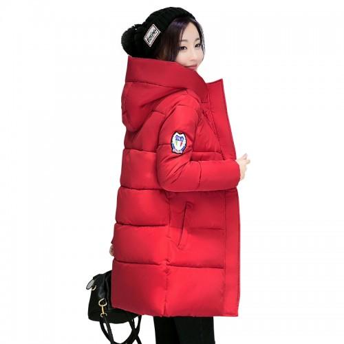 hot sale women winter hooded jacket female outwear cotton plus size 3XL warm coat thicken