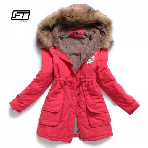 new winter women jacket medium long thicken plus size 4XL outwear hooded wadded coat slim parka