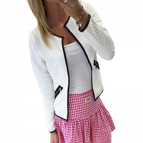 plus size s 4xml Women Jacket Spring Autumn Women Basic Jacket Long Sleeve Pockets Slim
