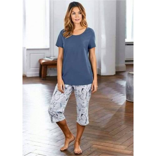 Women Short Sleeve Thin Cotton Loose Sleepwear (4)