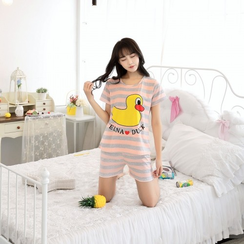 Women Short Sleeve Thin Cotton Loose Sleepwear (21)
