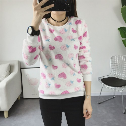 Sweater Lesser Knitted Pullovers Heart Printed