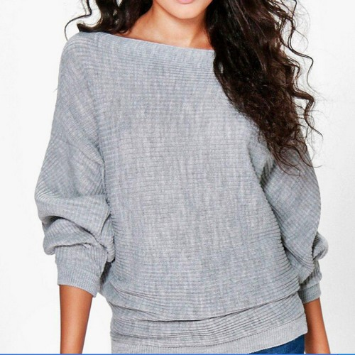 High Quality Sweater Women Autumn Winter Loose Long Batwing Sleeve Sweater Tops New Fashion Pullovers Thin