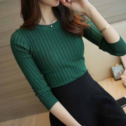 Women Sweater High Elastic Solid Turtleneck Fall Winter Fashion Sweater