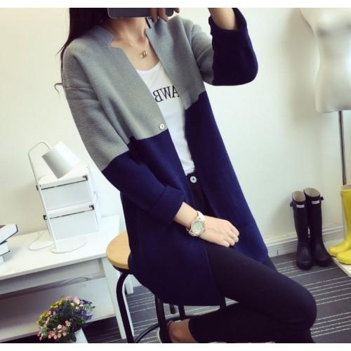 HAO HE SHEN 10152016 Korean autumn new color dress sweater 35