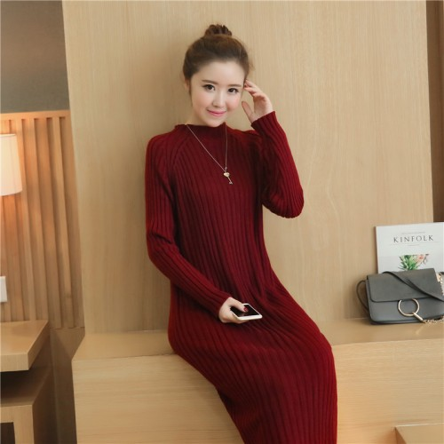 OHCLOTHING 6507 women s new version of knitted sweater dress long coat 47