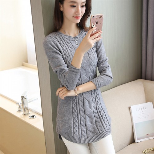 OHCLOTHING New sweater pullover real twist round collar woolen dress 45 5 color 2 building