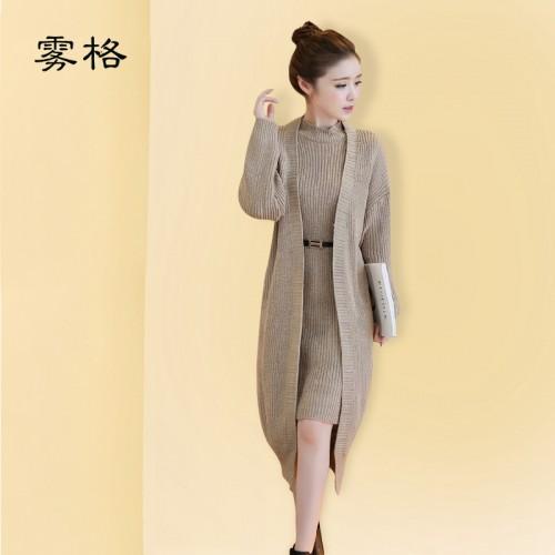 Women Sweaters Long Cardigans Two piece Suit Women s Poncho Cardigan Winter Warm Coat Pullover Open