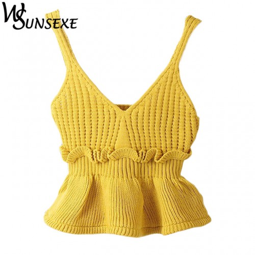utumn Women Small Tank Top Sweet Slim Hem Halter Flounced Kitted Vest Tops 8.jpg 640x640