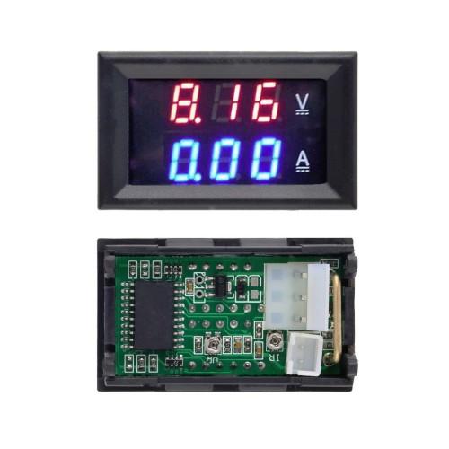 100 V 10A Voltmeter Ammeter Blue