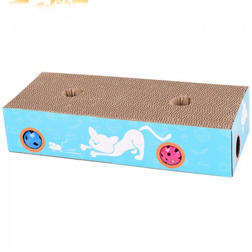 Cat Toy Scratch Board Scratcher Scratching Post Puzzle Game Table