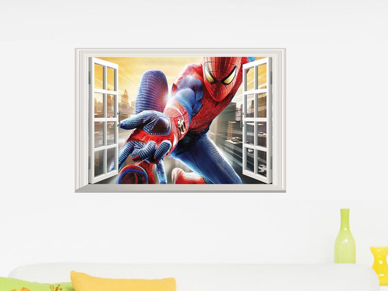3d Amazing Spiderman Wall Stickers Vinyl Art Decal