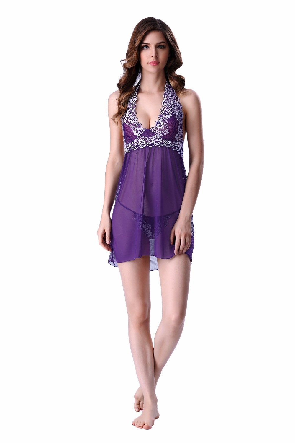 ... High-Quality-Blue-Embroidery-Sexy-Nightwear-Backless-Summer- ... f91a2c288