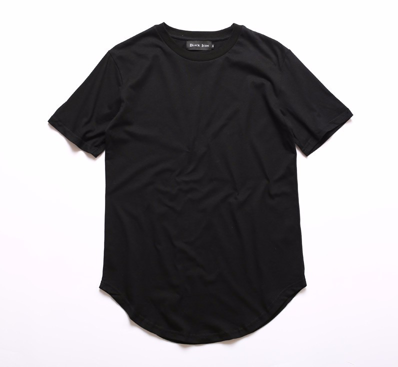 Hip hop homme curved extended t shirt for Hip hop t shirts big and tall