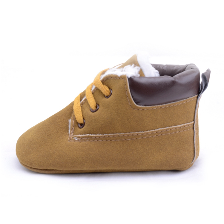 Baby Boys High Top Leather Sneaker Toddler Baby Shoes Anti