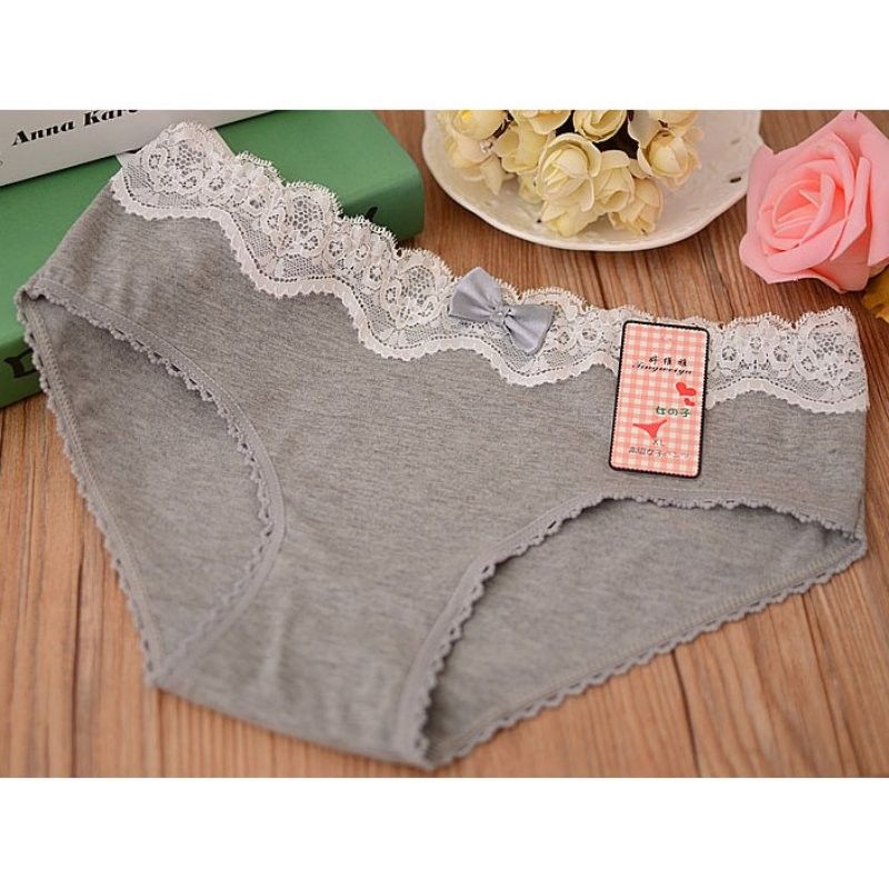5-Pcs-Women39s-Briefs-Panties-Gift-Box-Combination-Cotton-Underwear-Bowknot-Lady