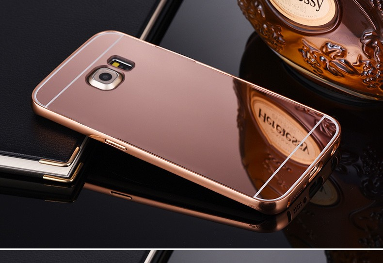 For-Samsung-Galaxy-S6-S6-Edge-S7-Edge-Mirror-Aluminum-Case-Metal-Frame-Case-For-