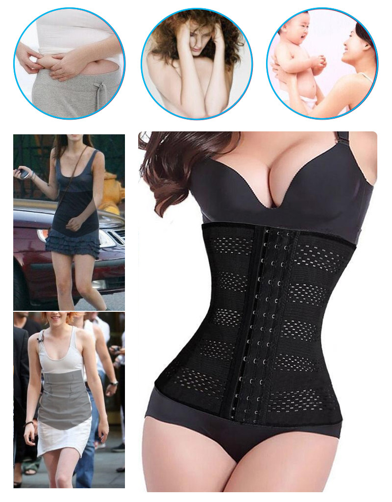 Hot-New-Women-Body-Shaper-Latex-Waist-Trainer--Cincher-Tummy-Girdle-Corset-Shape