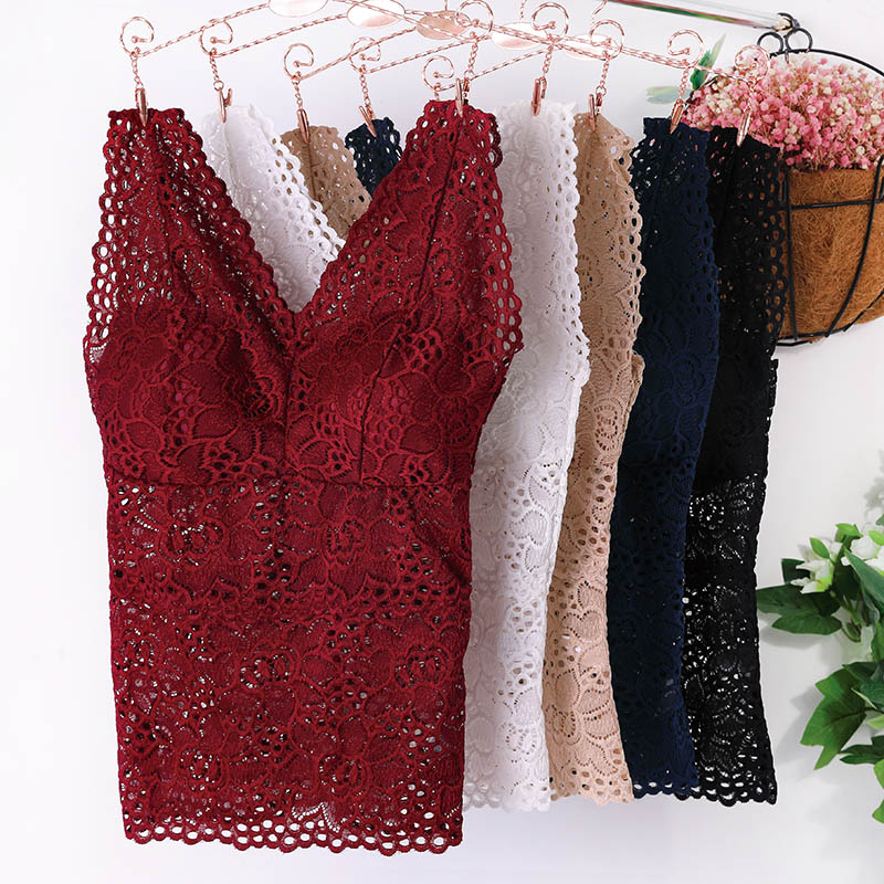 NEW-Lace-Crop-Top-Women-Fashion-Floral-Lace-Padded-Bra-Tank-Top-V-Neck-Underwear-Bralett-Ladies-Camisole-2019-Free-Ship-4000073667843