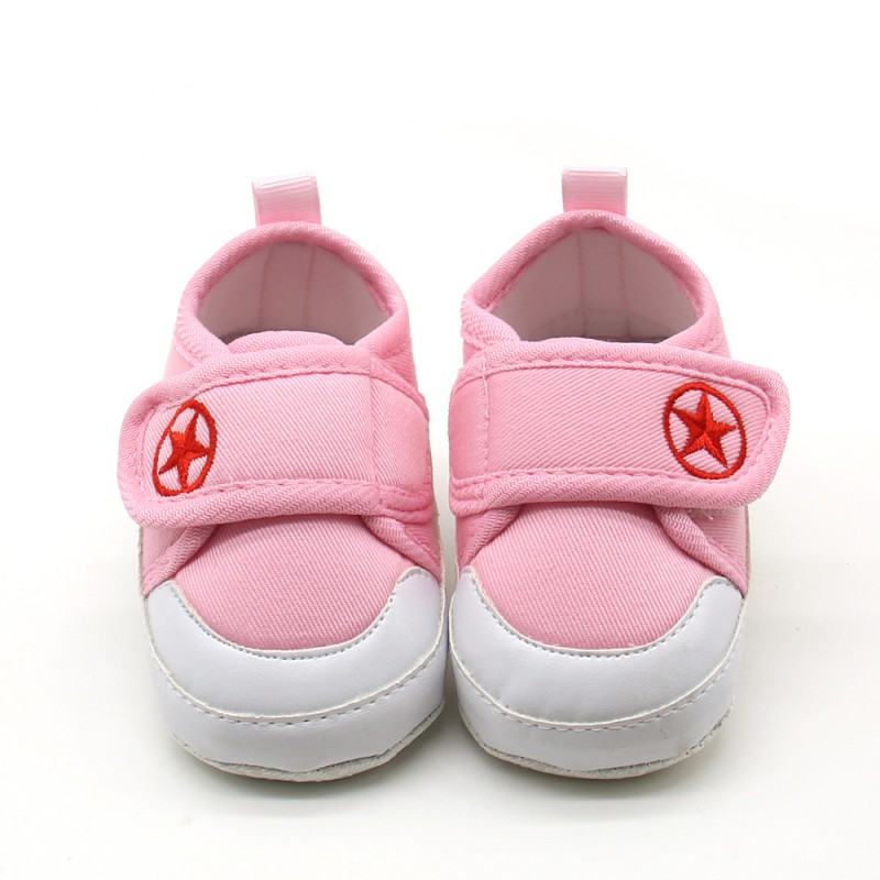 baby soft bottom anti skid shoes hook and loop outdoor