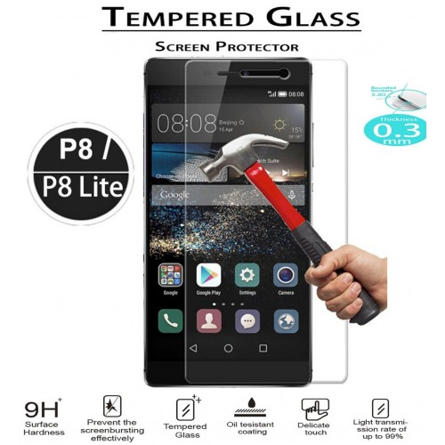 9H Hardness Huawei P8 P8 Lite Tempered Glass Film 2 5D HD Clear Tempered Glass Screen