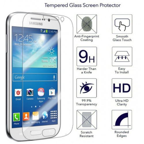 GT I9060 GT I9060I GT I9080 I9082 2 5D Round Edge Tempered Glass Film For Samsung Galaxy Grand Neo / Plus