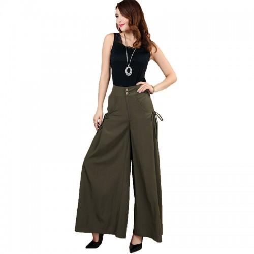 Womens Fashion Leisure Wide Leg Pants