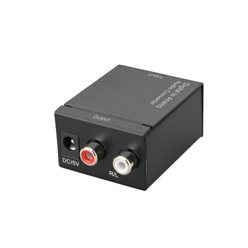 3.5MM Jack 2*RCA Digital To Analog Audio Converter Amplifier Decoder Optical Fiber Coaxial Signal To Analog