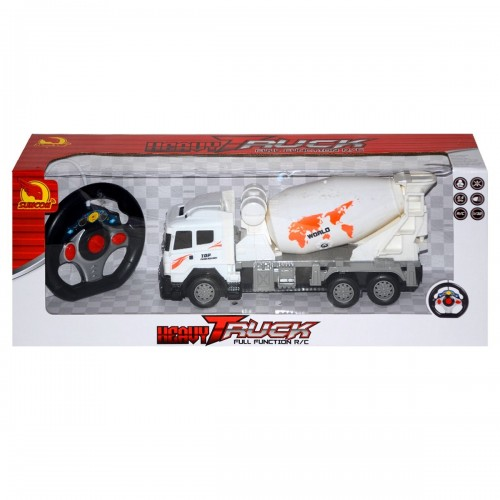 Toyzone RC Max Truck Car- Cement Mixer (White)