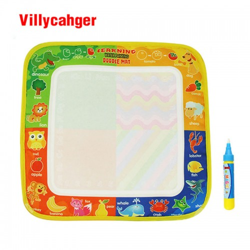 Non-toxic Water Drawing Mat With 1 Magic Pen for Kids 29x30cm
