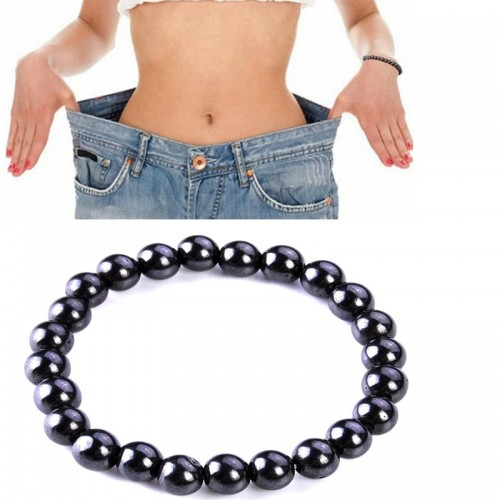 1 Pcs Magnetic Bracelet Beads Unisex Hematite Stone Therapy Health Care Magnet Beads Bracelet