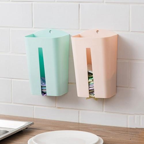 Storage Box Organizer Plastic Garbage Bags Collection Wall Mounted Kitchen