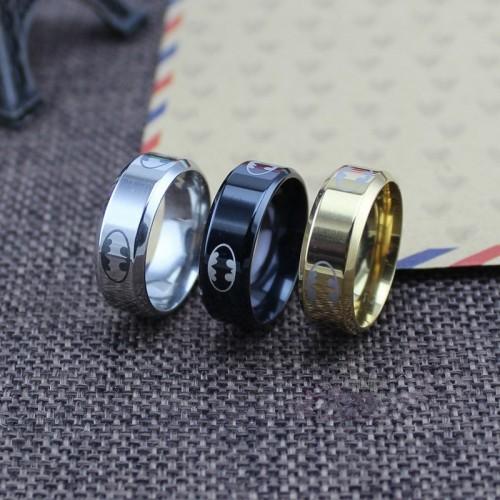 Stainless Steel Ring Batman Rings For men