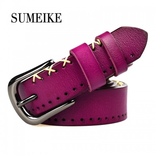 Real Cowhide Leather Belt Women Jeans Female Belt Strap Fashion Belts For Women