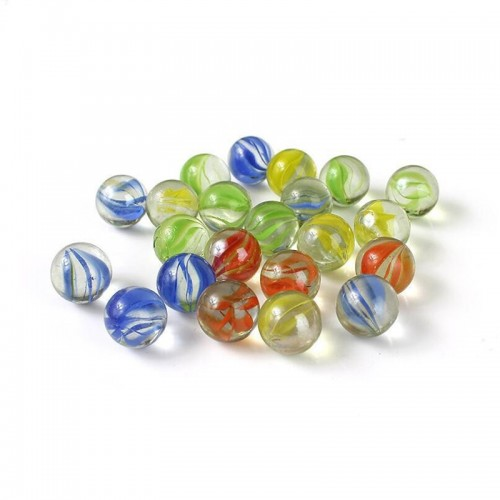 80 PCS Of Glass Balls 12mm Kids Playing Games, Pots and Aquarium Decorative Marbles Beads