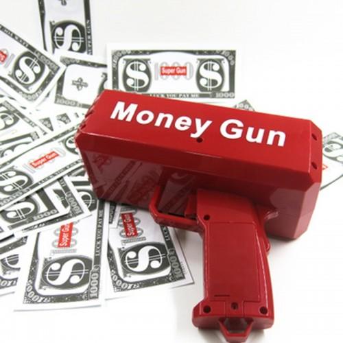 100PCS Cash Super Money Electric Gun Toy Outdoor Game For Kids