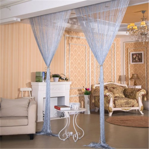 100cmX200cm Glitter Tassel Curtain String Door Room Panel Divider Window Decorative