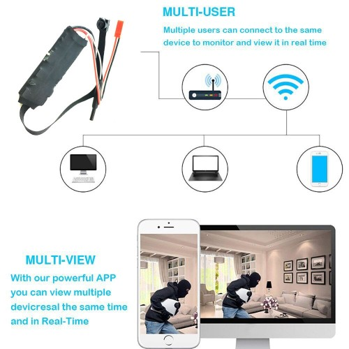 S06 Mini Wi-Fi Camera Remote Control 2MP P2P Video Recorder Wireless IP Camera Support TF card