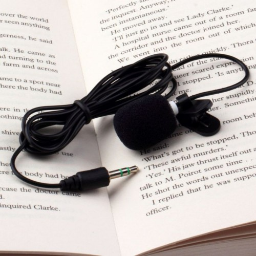 Portable Mini 3.5mm Tie Lapel Lavalier Clip Microphone For Lectures Teaching Lessons Education