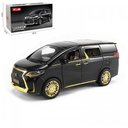 1/24 Luxury Lexus MPV Model Toy Car Alloy Die Cast Simulation Sound Light Pull Back Vehicle