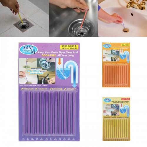 Kitchen Clean Accessories Pipeline Bathtub Decontamination Drain Sink Filt Sani Sticks Sewer Cleaning Rod