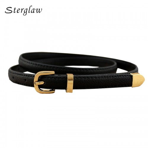 13 Colors Fashion Female Thin Belt Women High Quality Strap Women Leather Trouser Children