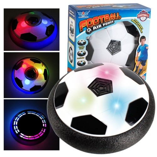 LED Light Flashing Suspension Ball Air Power Football Toy Home Game Disc Gliding Soccer